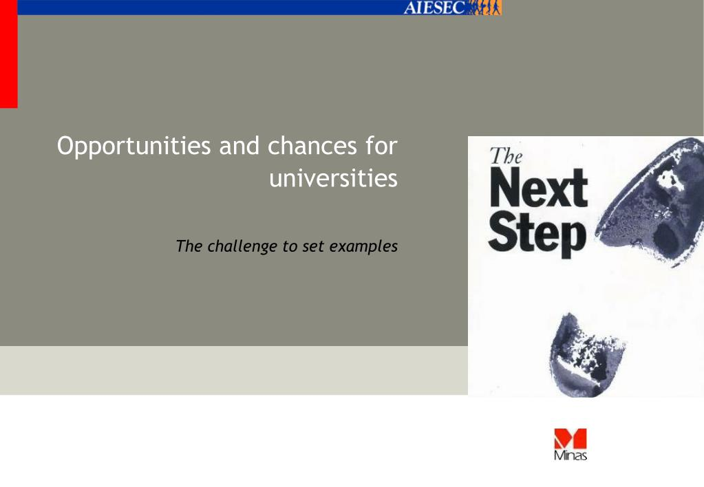 Opportunities and chances for universities