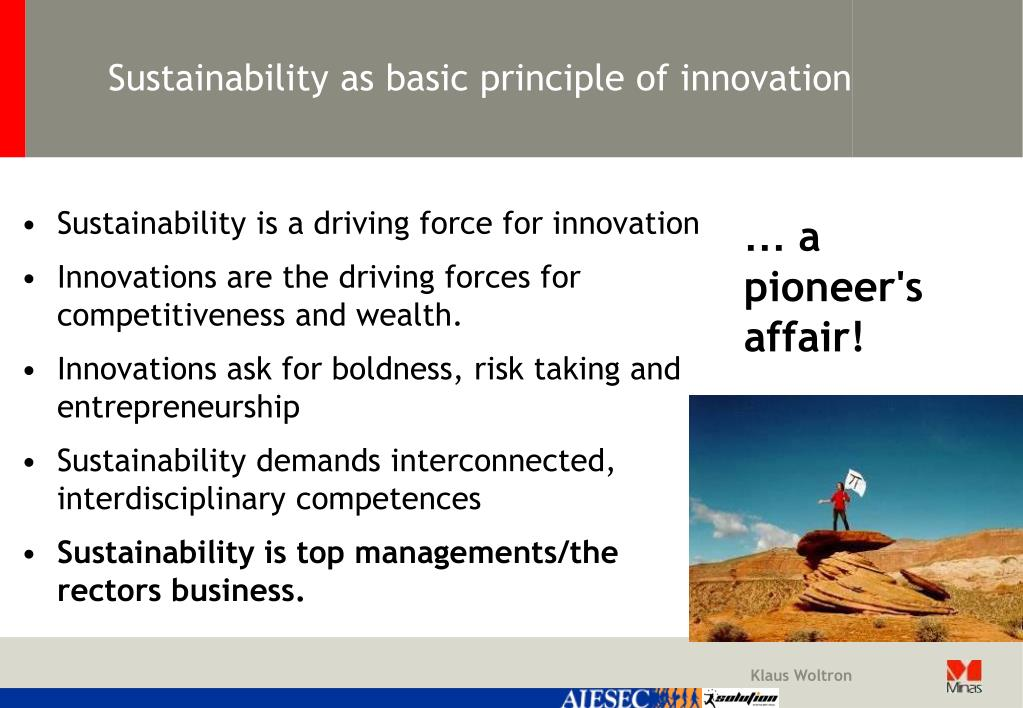 Sustainability as basic principle of innovation