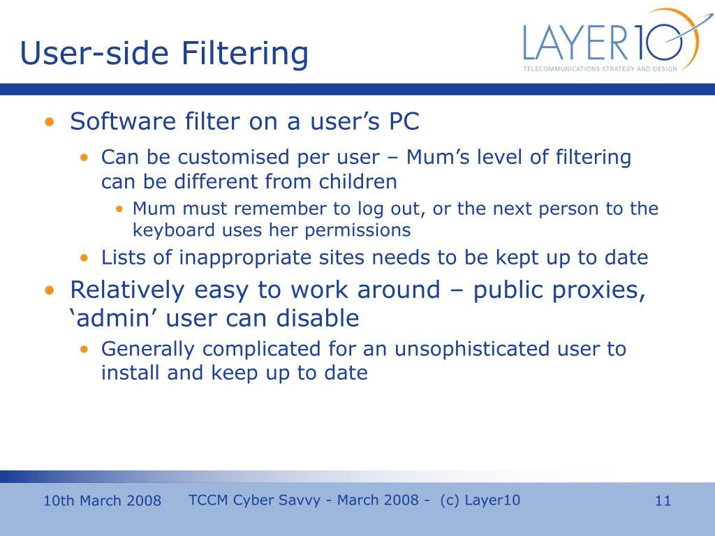 User-side Filtering