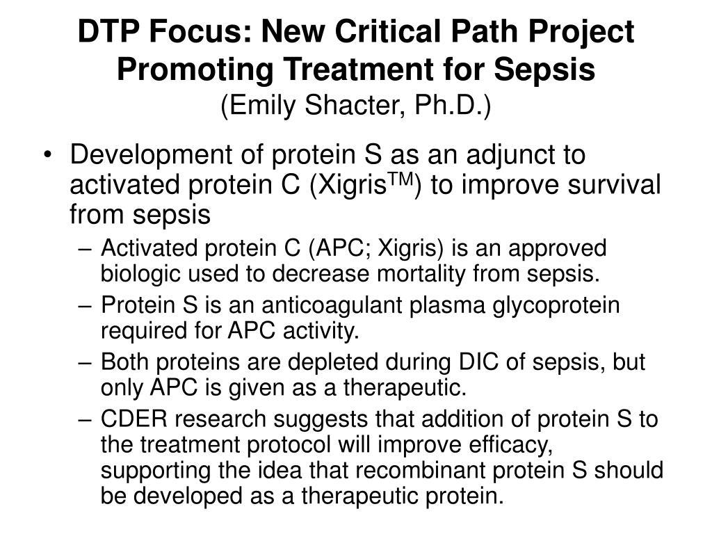 DTP Focus: New Critical Path Project Promoting Treatment for Sepsis