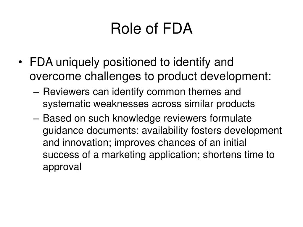 Role of FDA