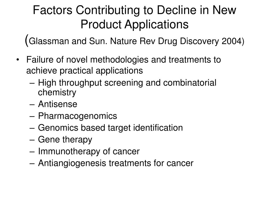 Factors Contributing to Decline in New Product Applications