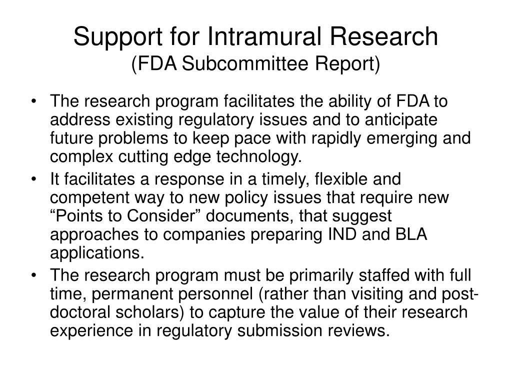 Support for Intramural Research