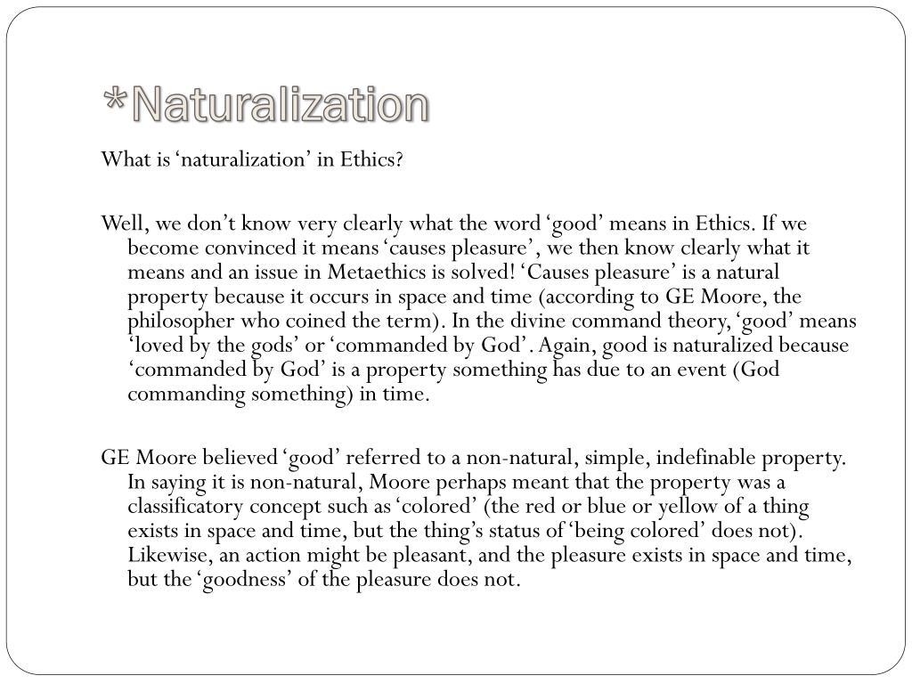 *Naturalization