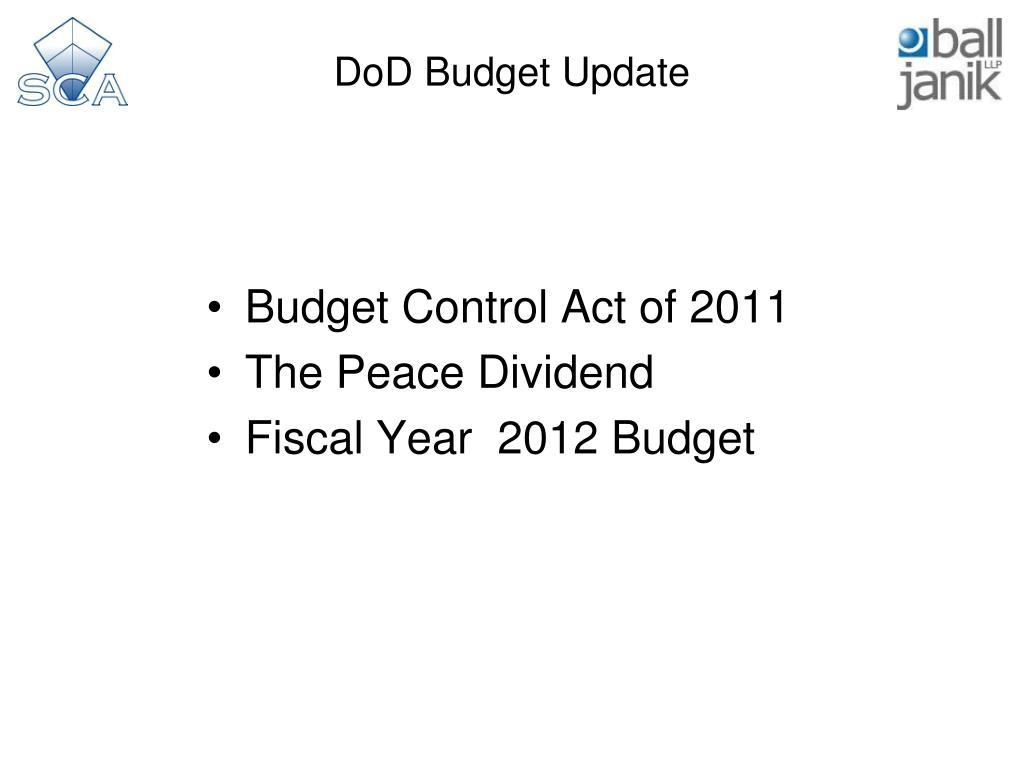 DoD Budget Update