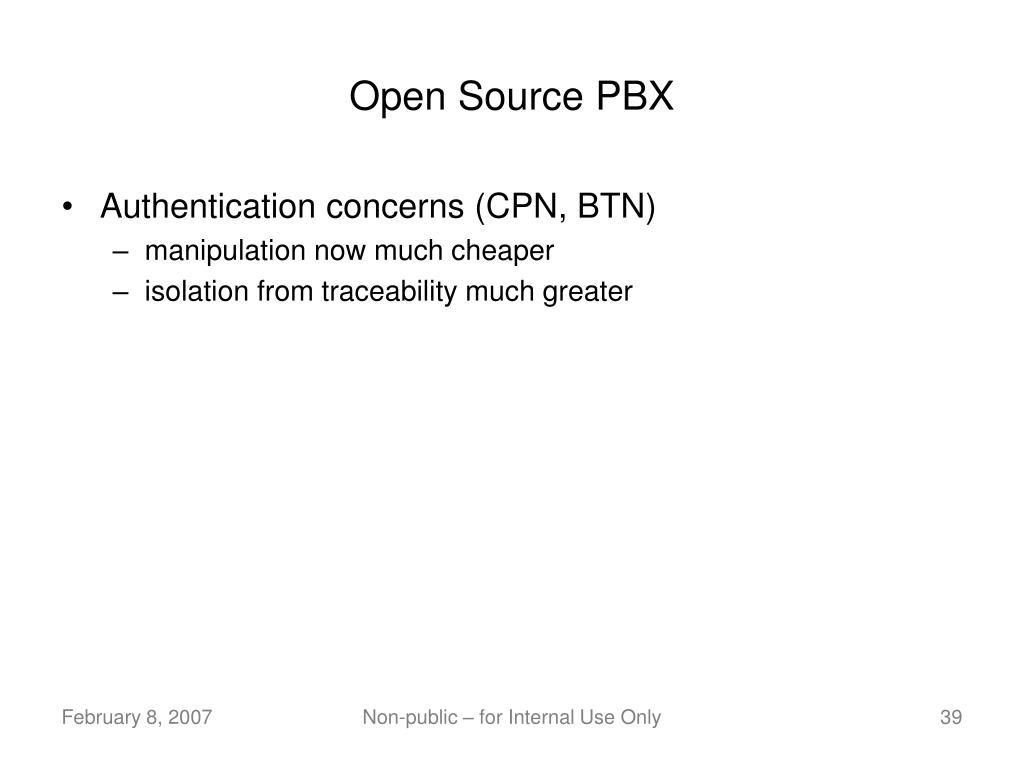 Open Source PBX