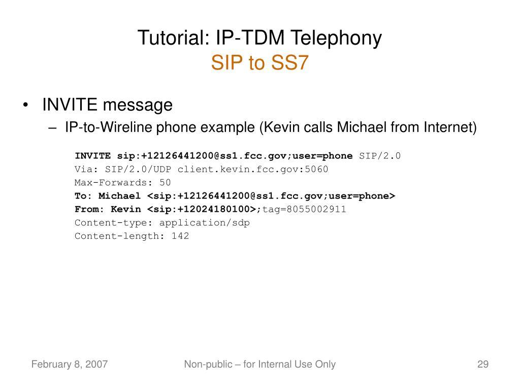 Tutorial: IP-TDM Telephony