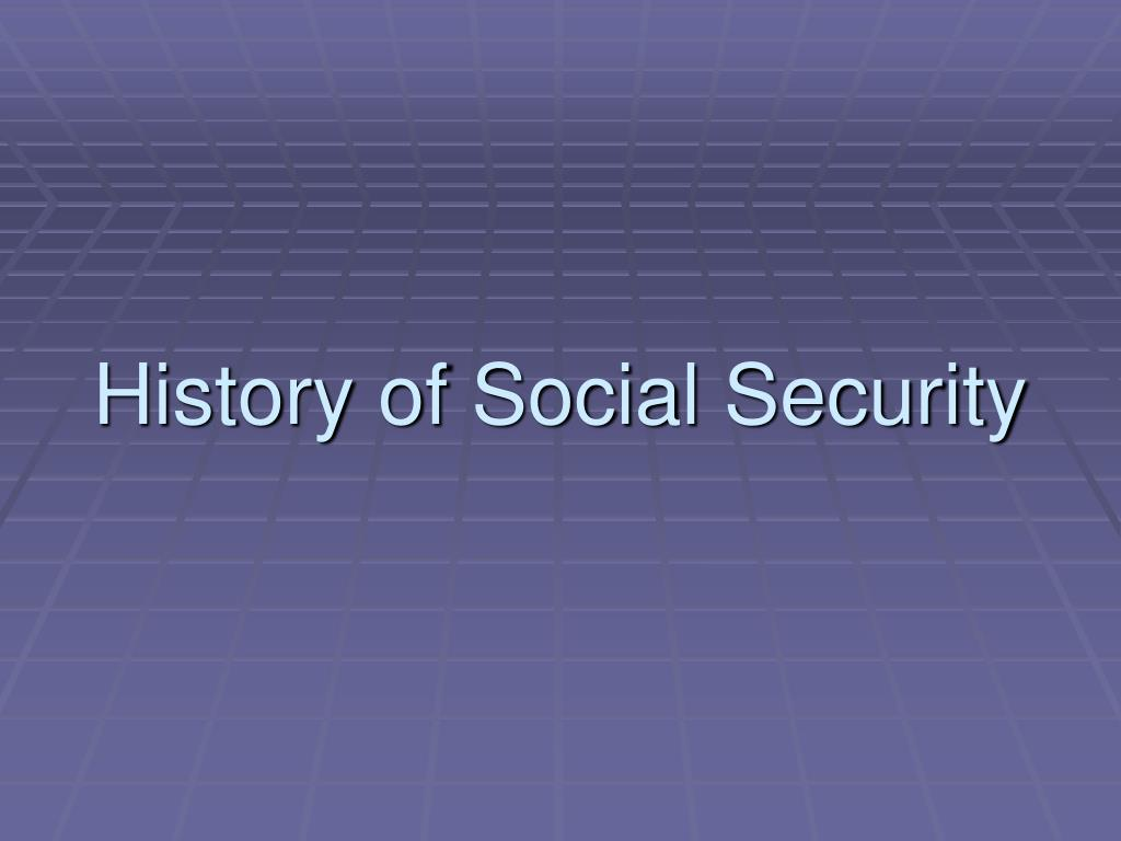 History of Social Security
