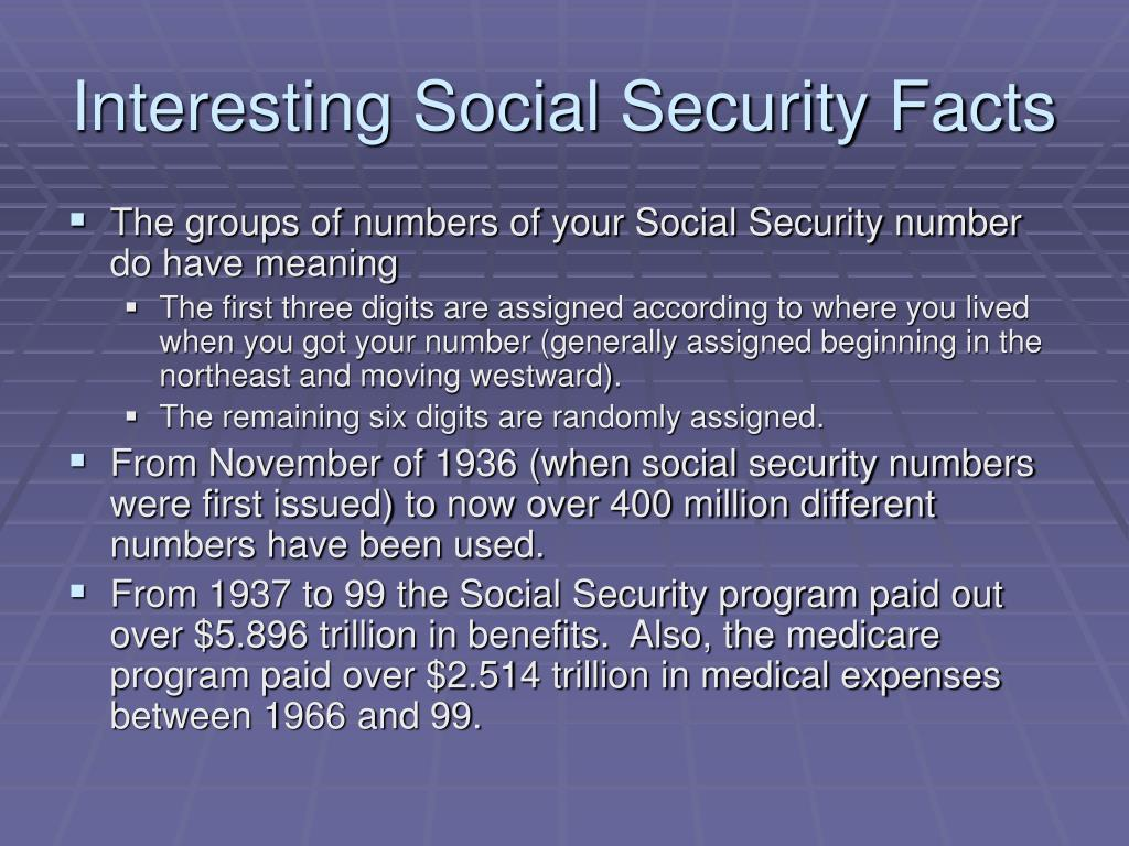 Interesting Social Security Facts