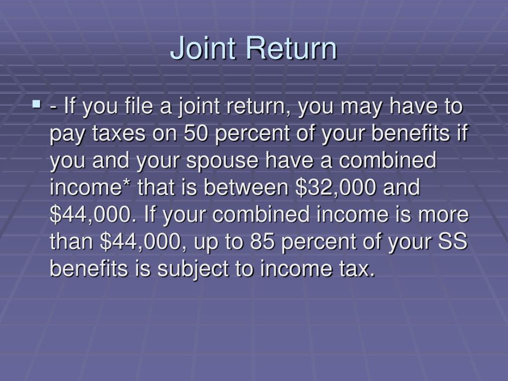 Joint Return