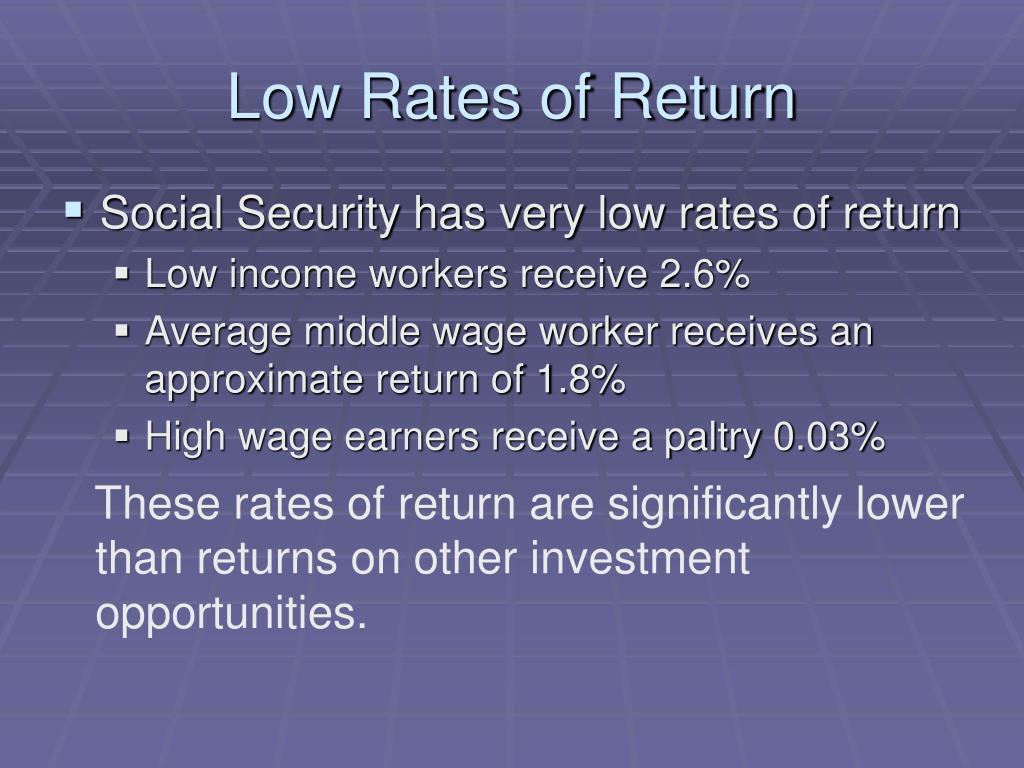 Low Rates of Return