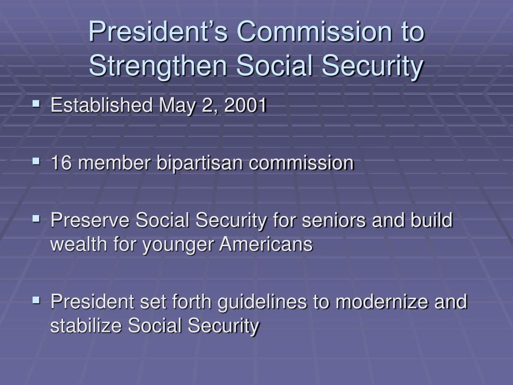 President's Commission to Strengthen Social Security