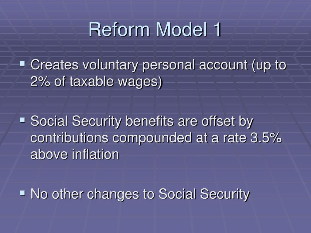 Reform Model 1
