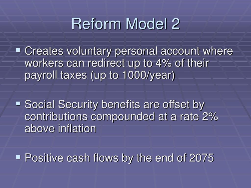 Reform Model 2