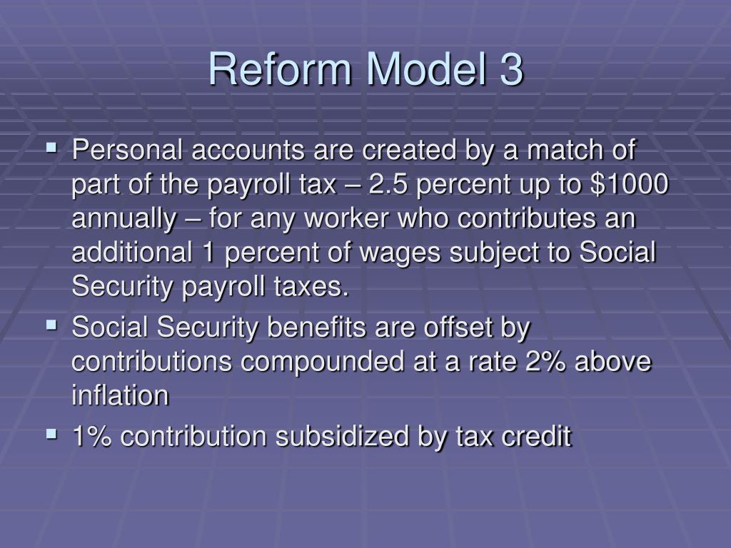 Reform Model 3