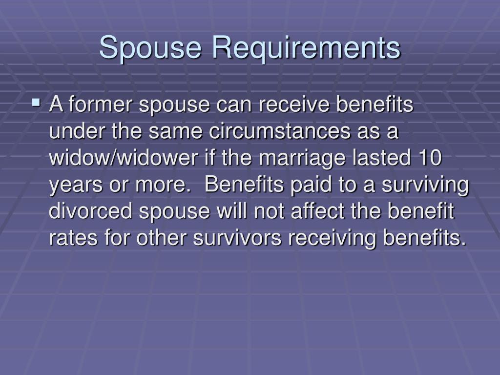 Spouse Requirements