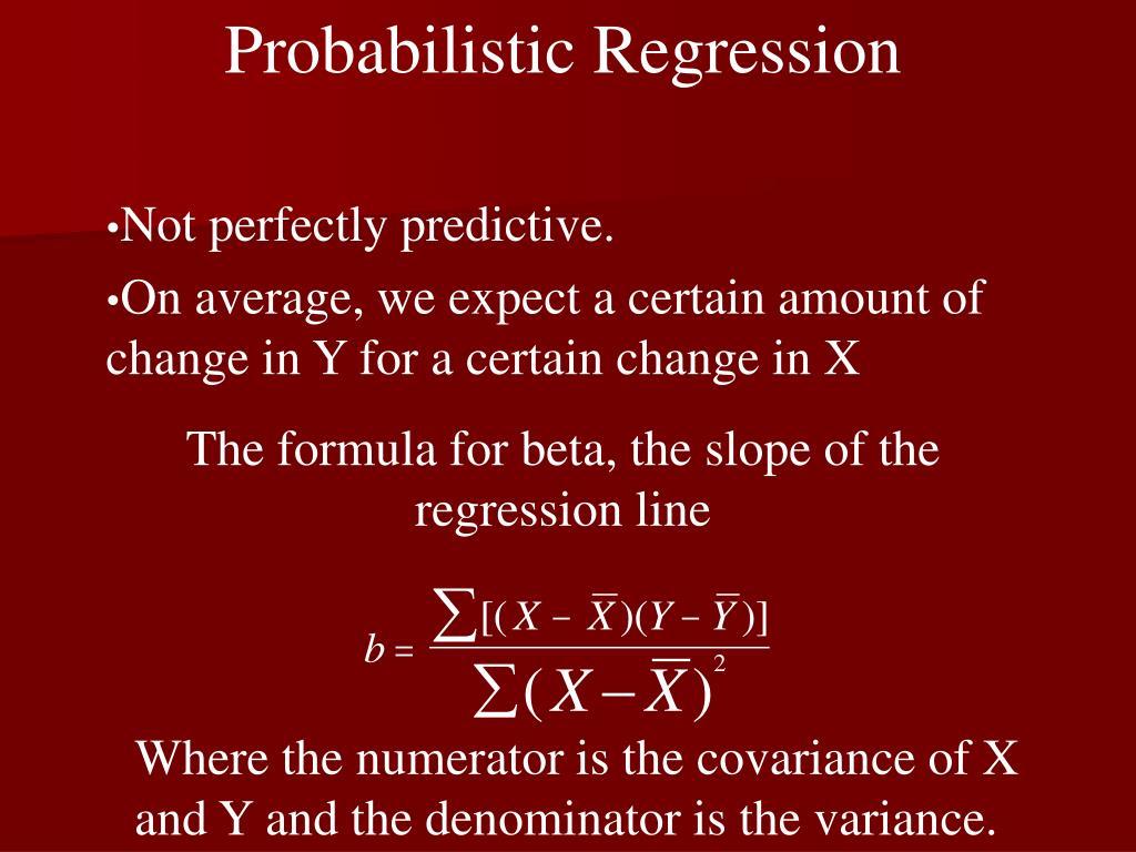 Probabilistic Regression