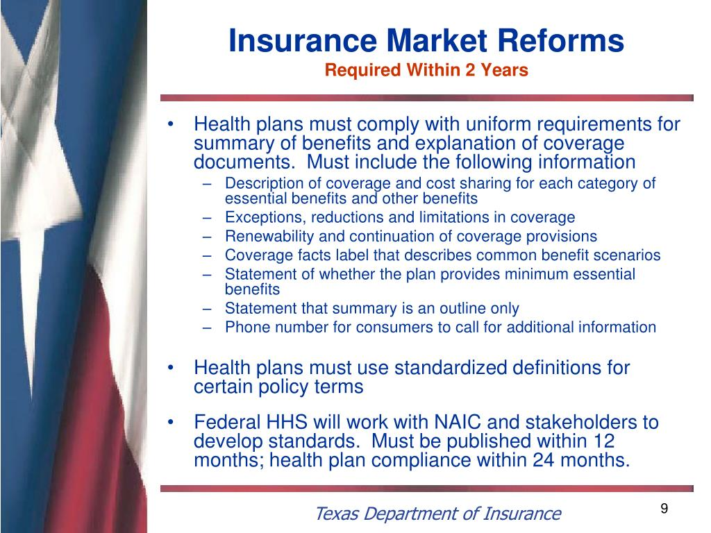 Insurance Market Reforms