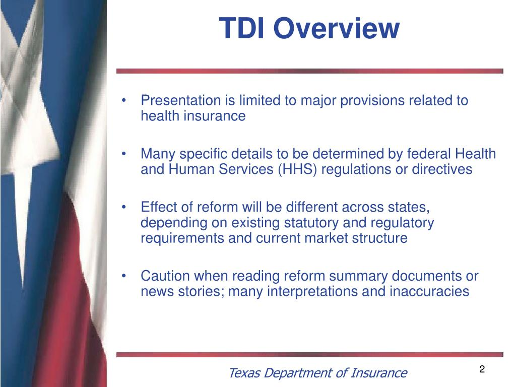 TDI Overview