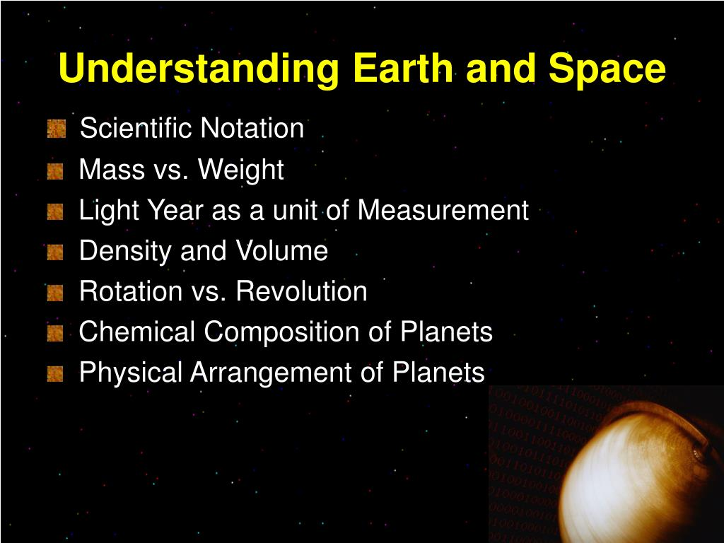 Understanding Earth and Space