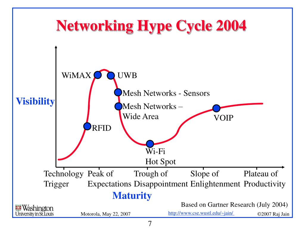 Networking Hype Cycle 2004