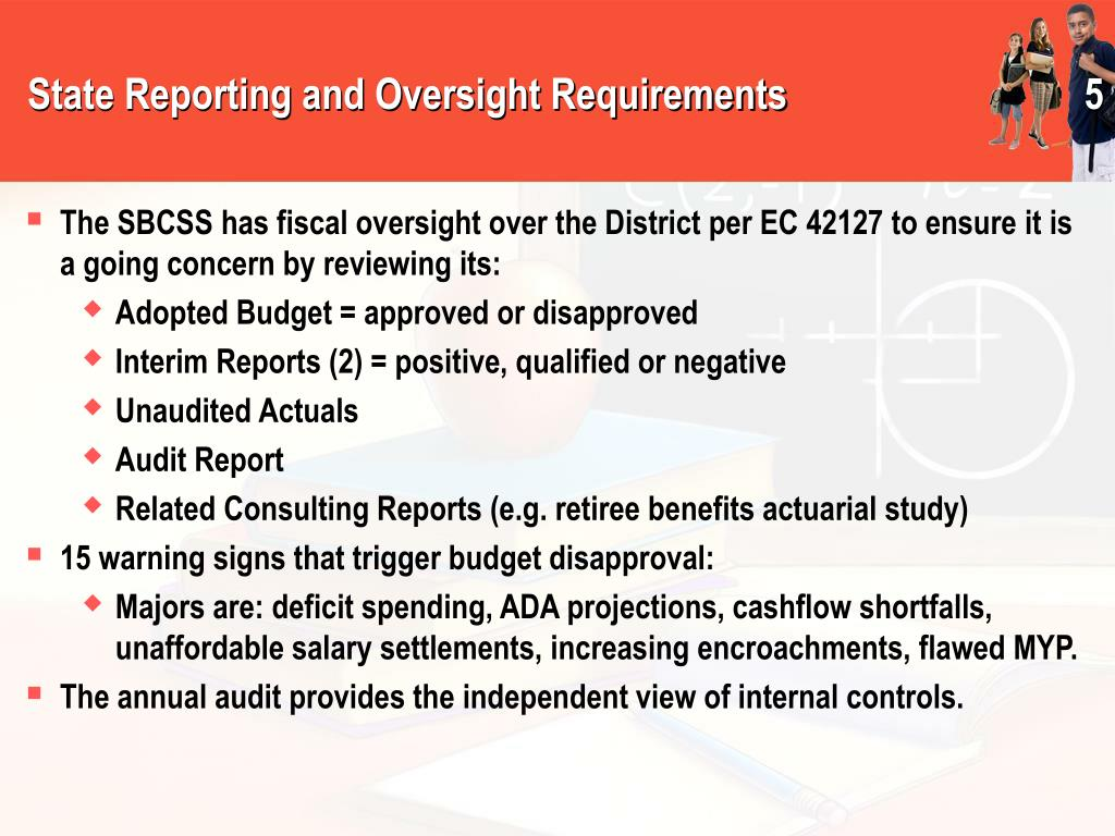 State Reporting and Oversight Requirements