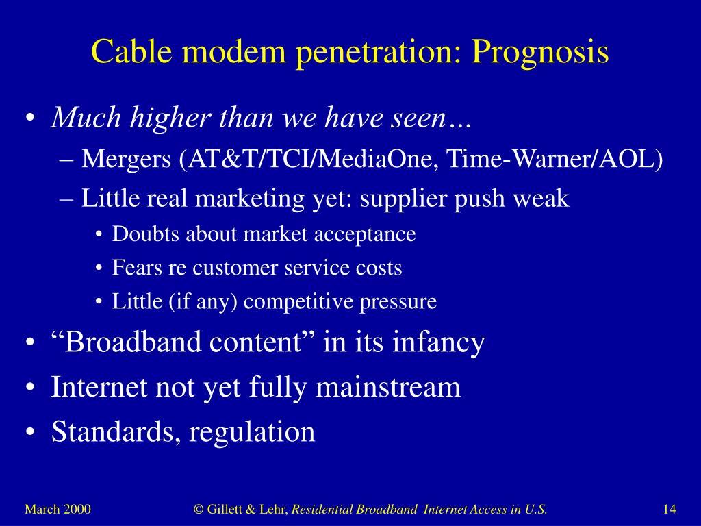 Cable modem penetration: Prognosis