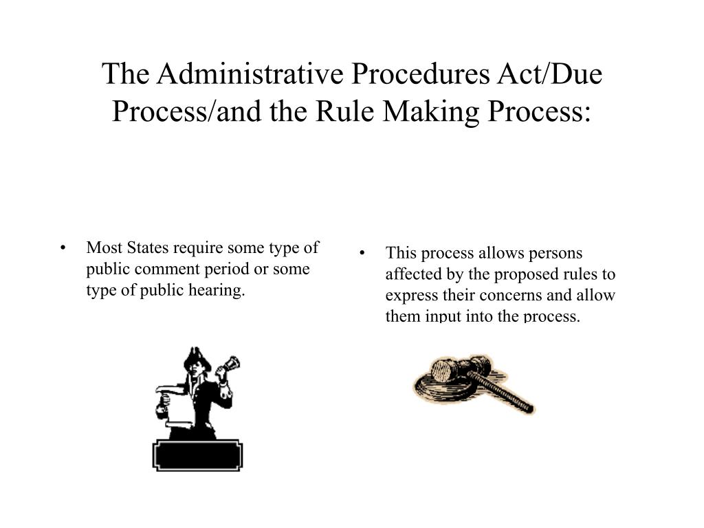 Most States require some type of public comment period or some type of public hearing.