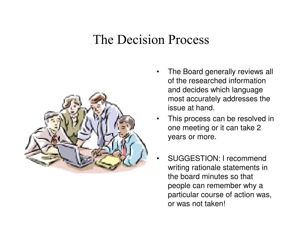 The Decision Process
