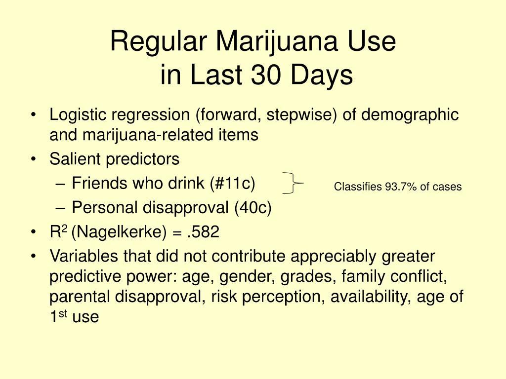Regular Marijuana Use