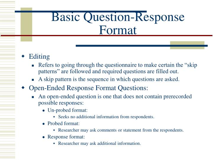 Basic Question-Response
