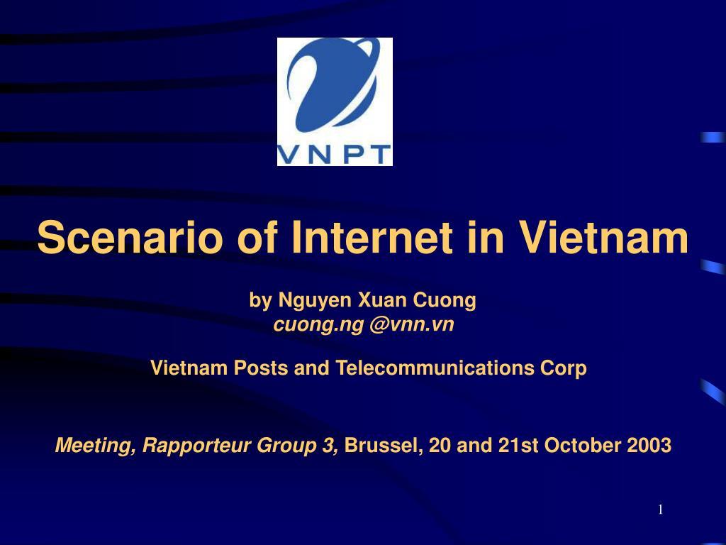 Scenario of Internet in Vietnam
