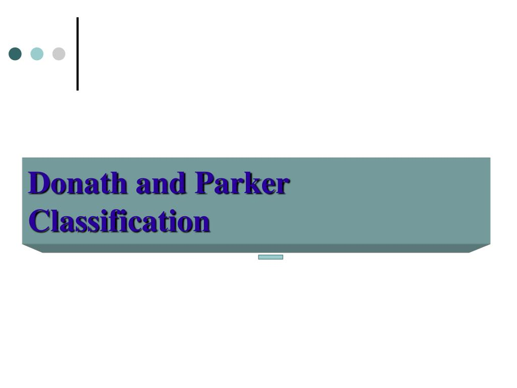 Donath and Parker Classification