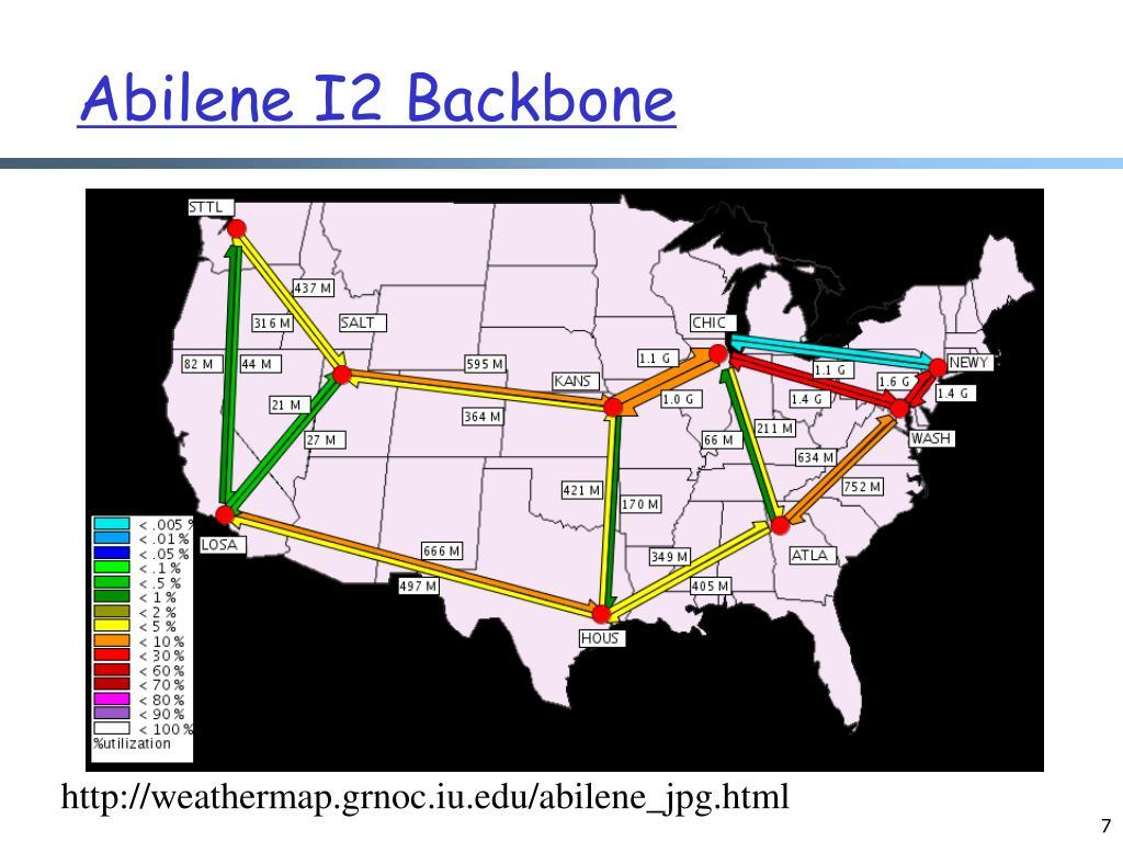 Abilene I2 Backbone