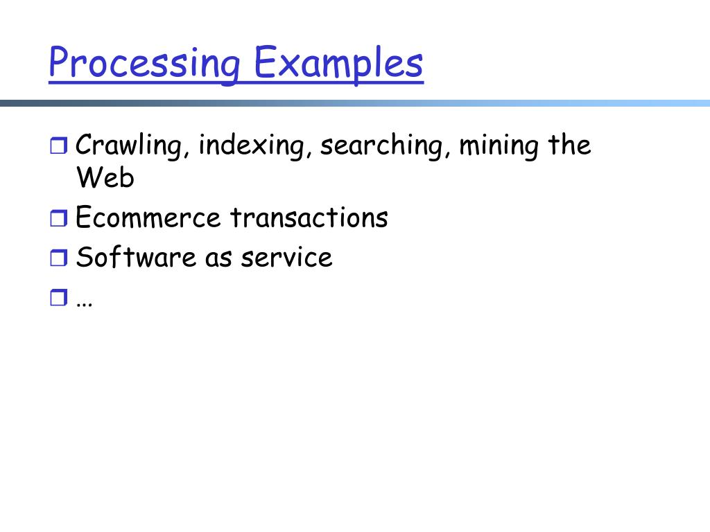 Processing Examples