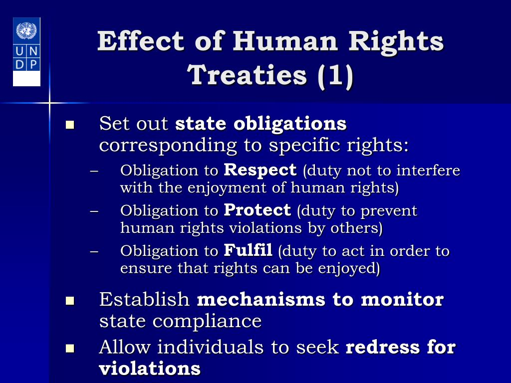 Effect of Human Rights Treaties (1)
