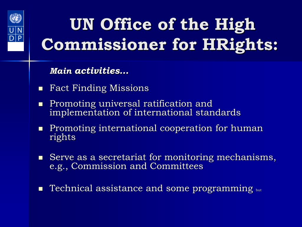 UN Office of the High Commissioner for HRights: