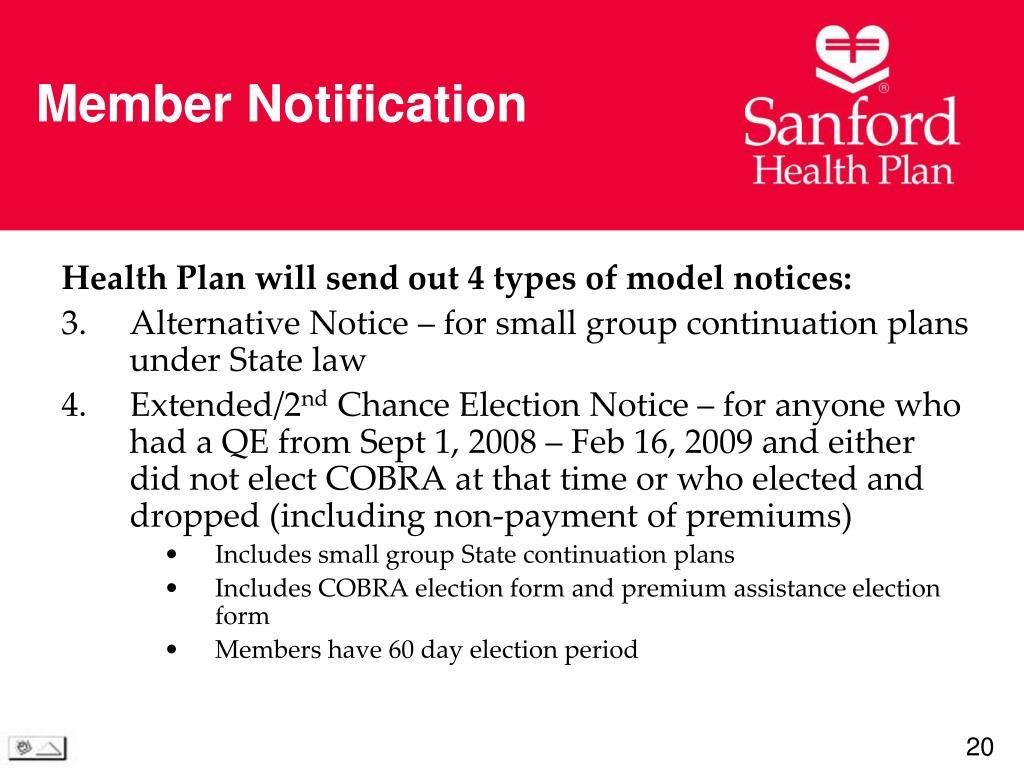Member Notification