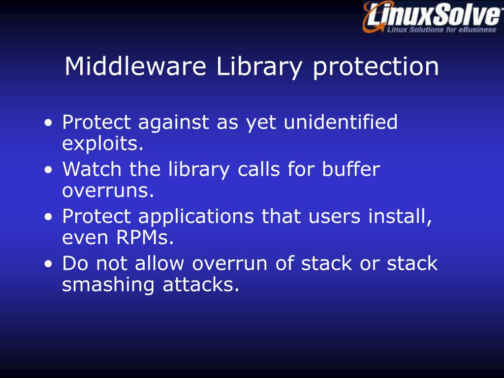 Middleware Library protection