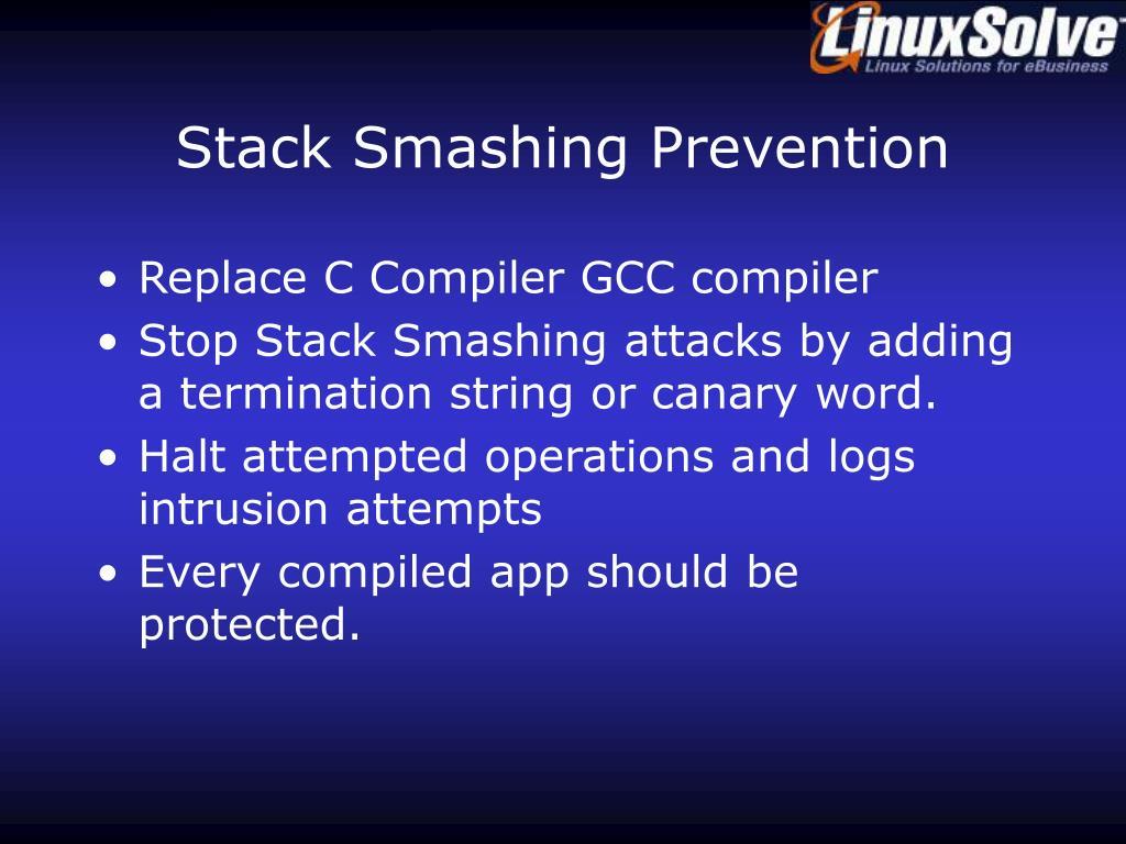 Stack Smashing Prevention