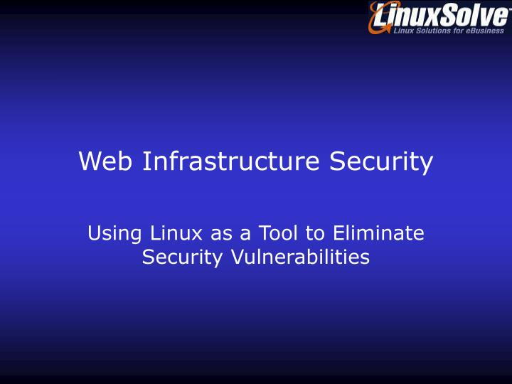 Web infrastructure security