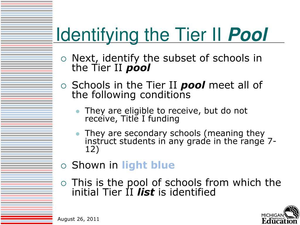 Identifying the Tier II