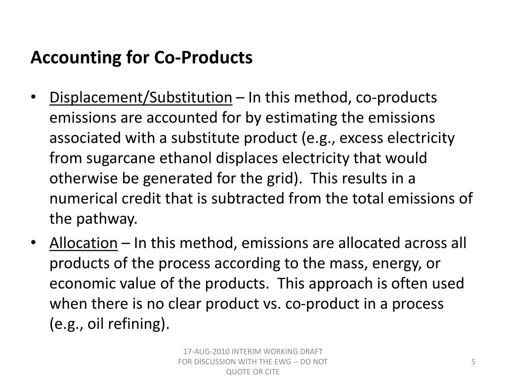 Accounting for Co-Products