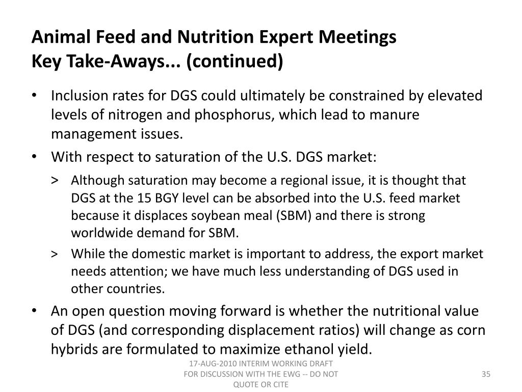 Animal Feed and Nutrition Expert Meetings
