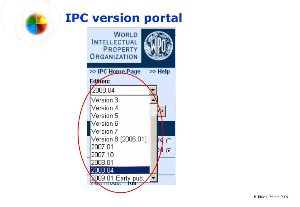 IPC version portal