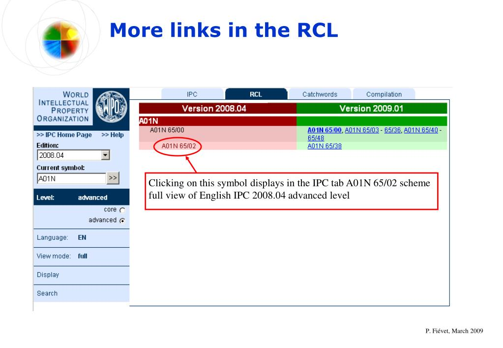 More links in the RCL