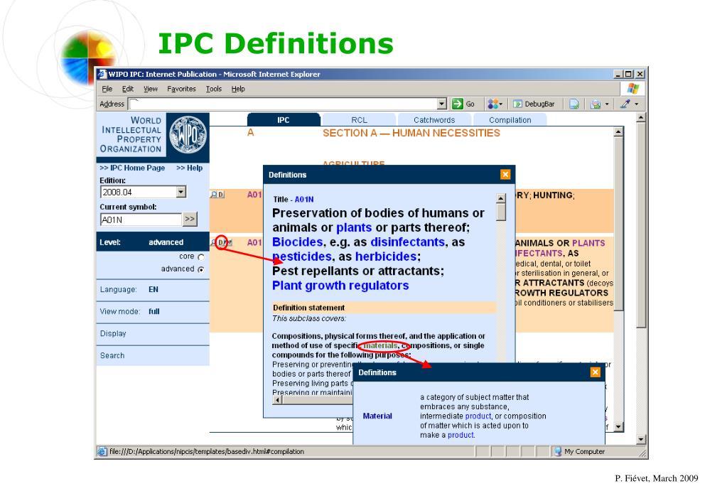 IPC Definitions