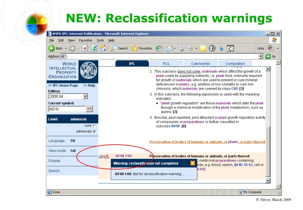 NEW: Reclassification warnings