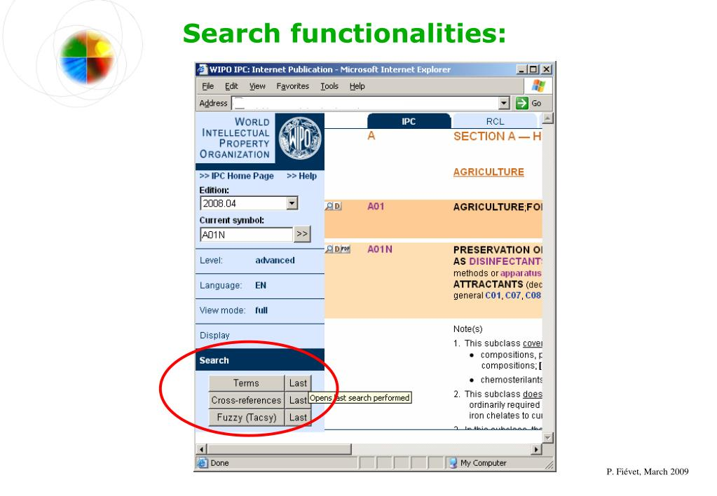 Search functionalities:
