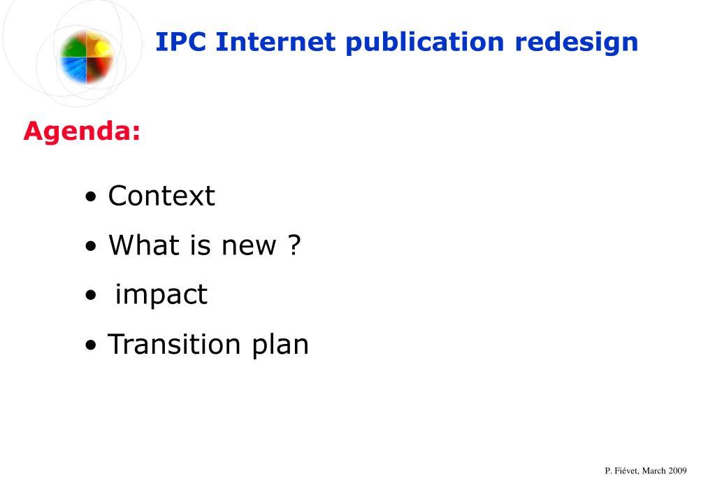 IPC Internet publication redesign